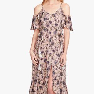 Printed Jessica Simpson cold shoulder dress